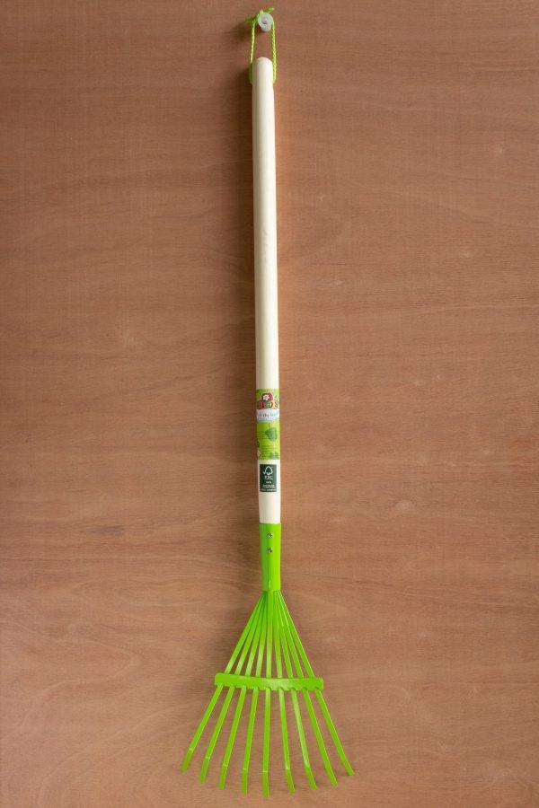 Bladhark, hout met metaal, groen