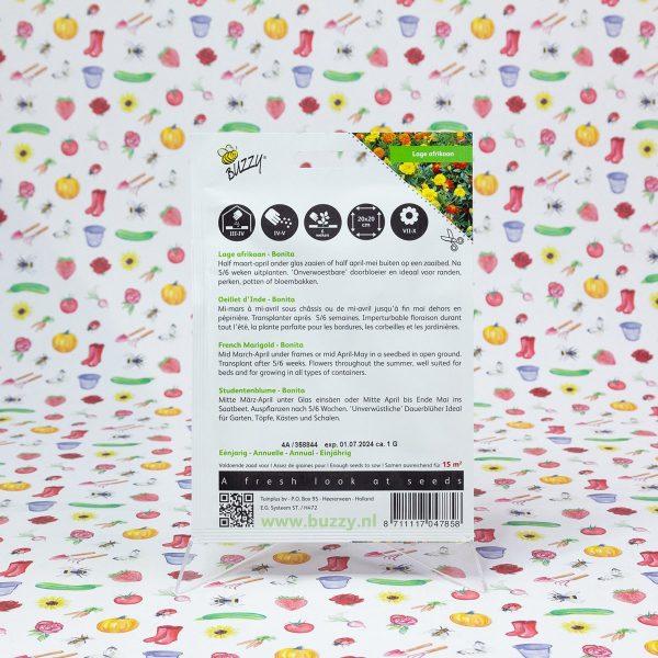 Buzzy® Tagetes, lage Afrikaan Bonita