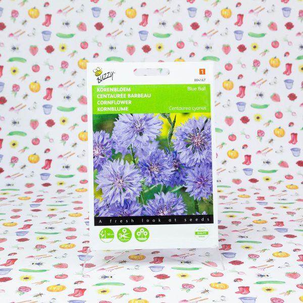 Buzzy® Centaurea, Korenbloem Blue Ball dubbelbloemig